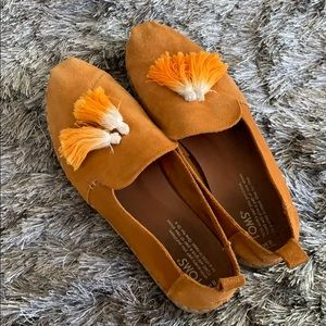 Leather suede marigold toms espadrilles